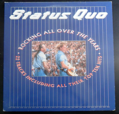 lp doble status quo rockin all over the years