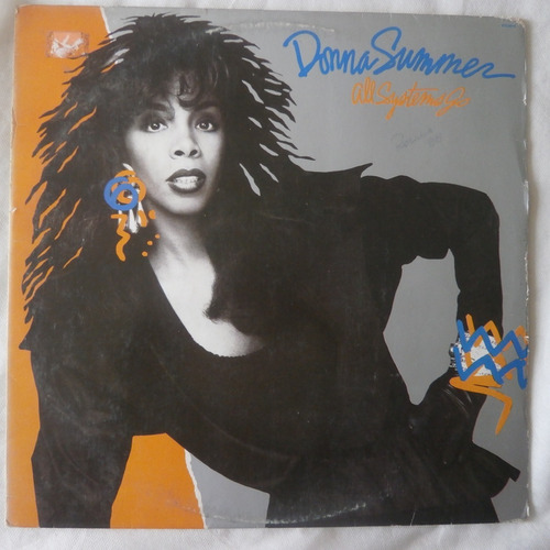 lp donna summer 1987 all systems go, vinil com encarte