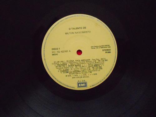 lp dupl. milton nascimento p/1985- o talento