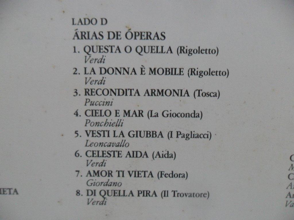 Lp Duplo Vinil - Mario Lanza Exclusivo - 1982 Rca Gold Seal