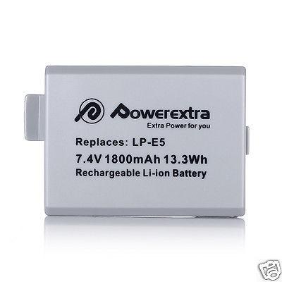 lp-e5 lpe5 batería de 1800mah + cargador combo para canon