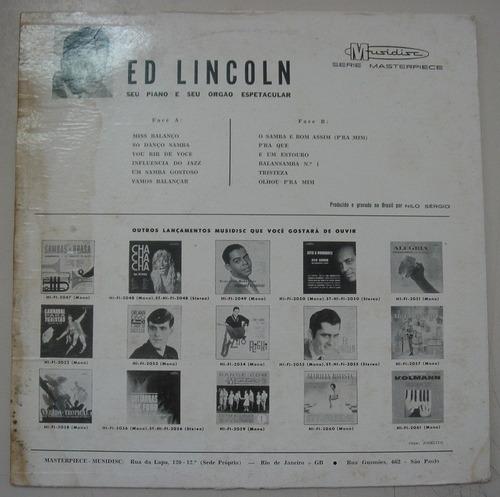 lp ed lincoln-  seu piano e seu orgão espetacular