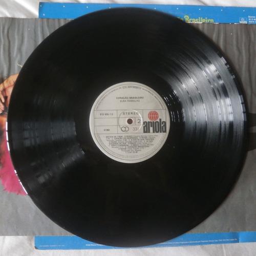 lp elba ramalho 1983 coração brasileiro, disco de vinil