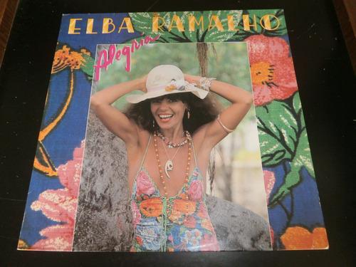 lp elba ramalho - alegria, vinil c/ encarte, seminovo, 1982