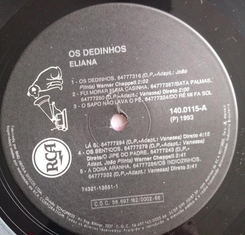 lp eliana os dedinhos 1993 c/encarte