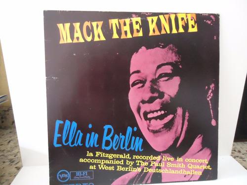 lp ella fitzgerald- ella in berlin- selo verve-nacional 1960