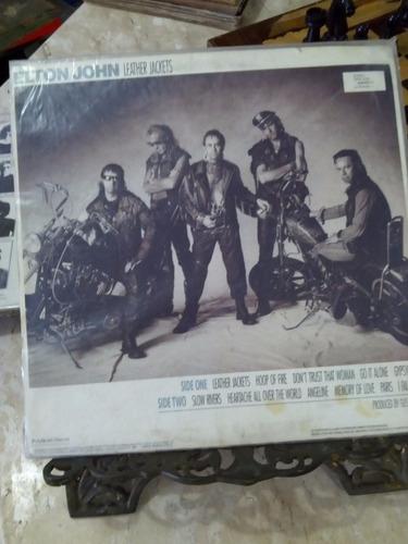 lp - elton john - leather jackets - 1986