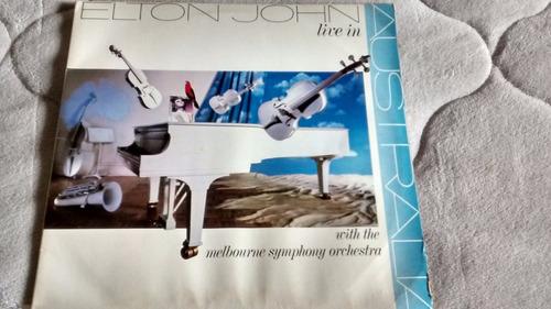 lp elton john / live in australia / album duplo / ano 1987