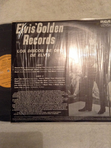 lp elvis golden recors