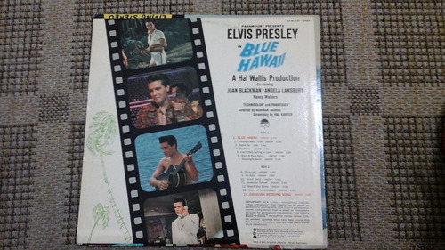 lp-elvis presley-blue hawaii-importado-lpm 2426-rarissimo