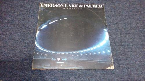 lp emerson lake and palmer in concert en acetato,long play