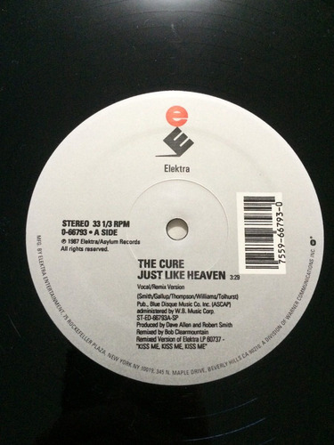 lp ep original the cure just like heaven extended 1987