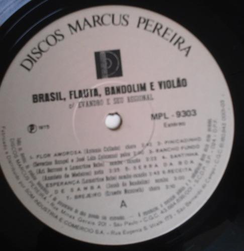 lp evandro e seu regional brasil,flauta,bandolim violão 1974