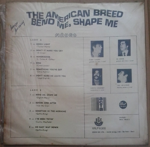 lp exc the american breed bend me shape me 1968