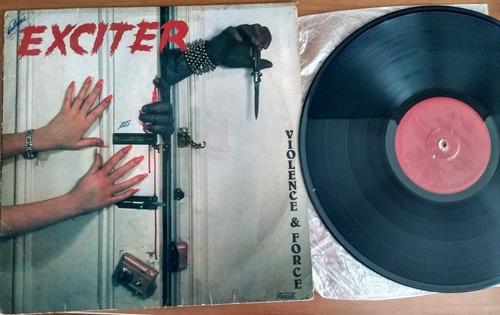 lp exciter - violence & force - woodstock discos