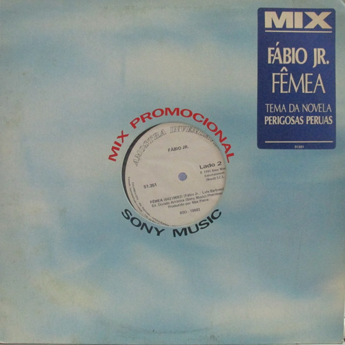 lp fabio jr femea disco promo miox single novo