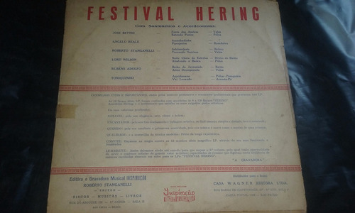 lp festival hering grandes sanfoneiros anos 60