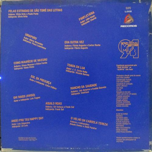 lp festival mpb record 1991 luis vagner celso vg+