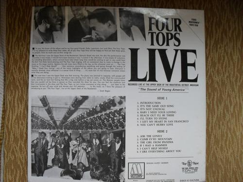lp- four tops live  black music samba rock 1976 motown