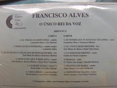 lp: francisco alves / o unico rei da voz nº 2  - 0km lacrado