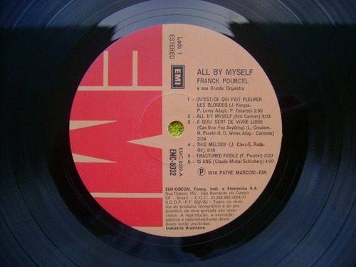 lp franck pourcel p/1978-all by myself