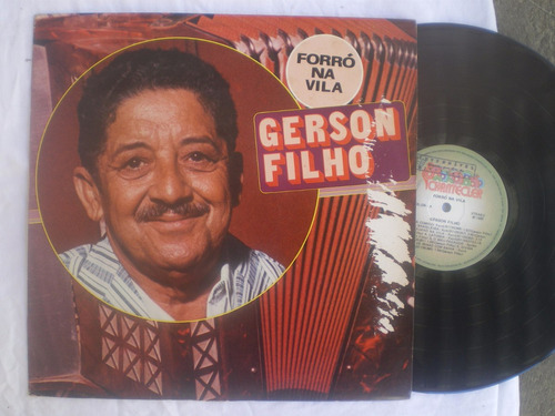 lp - gerson filho / forró na vila / chantecler / 1980