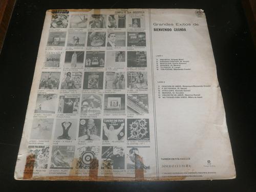 lp grandes exitos de bienvenido granda, disco vinil, 1981