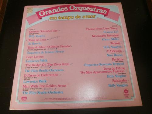 lp grandes orquestras, em tempo de amor, disco vinil, 1984