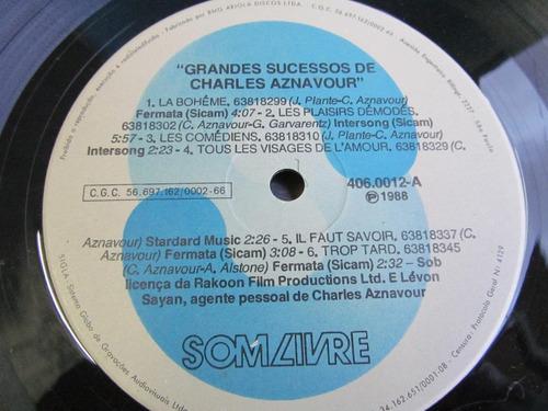 lp grandes sucessos charles aznavour     e