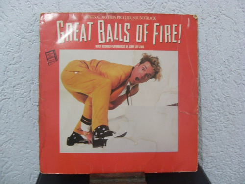 lp great balls of fire (sound track) - diversos