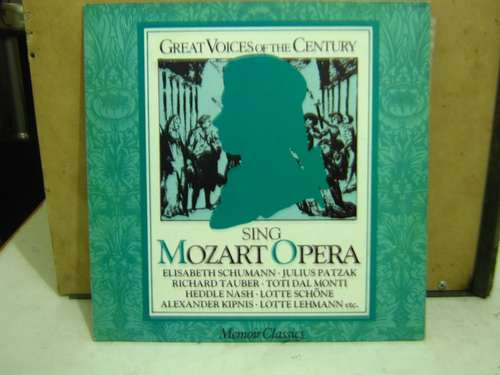 lp great voices of the century sing mozart opera