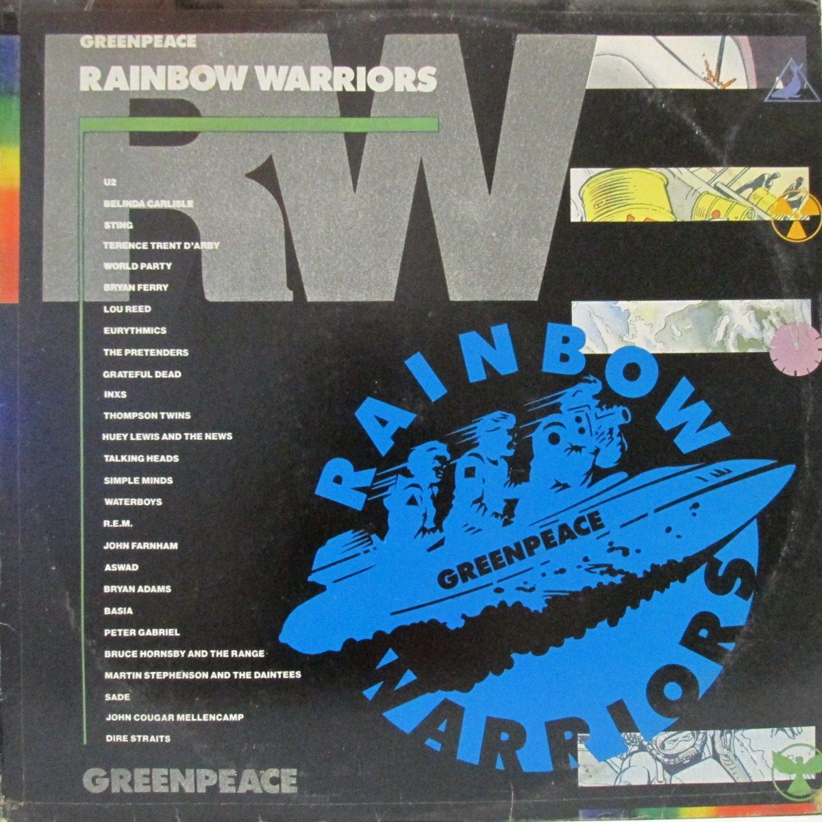Warriors Of The Rainbow 2 Vietsub: Lp Greenpeace Rainbow Warriors U2 Inxs Lou Reed Gratefu