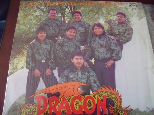 lp grupo dragon, las tres musiqueras