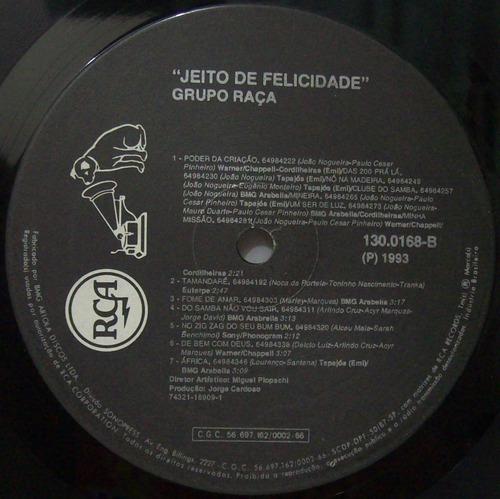 lp grupo raça - jeito de felicidade - 1993 - rca