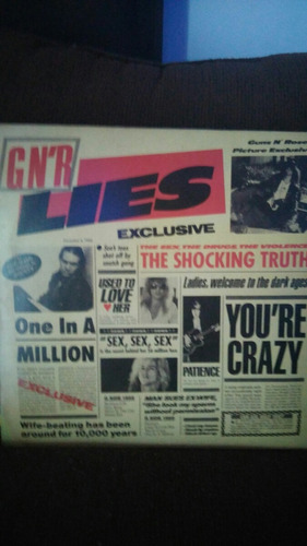 lp guns n roses - gn'r lies