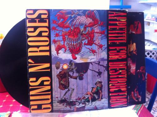 lp guns'nroses appetite for destruction 1988 com encarte