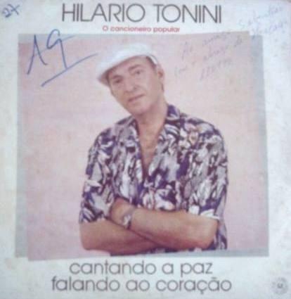 lp hilario tonini cantando a paz falando ao coraçao autograf