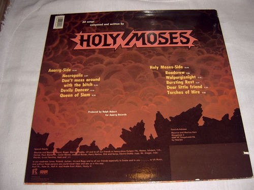 lp holy moses - queen of siam 1st 1989 usa speed thrash