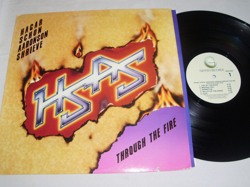 lp hsas - through the fire '84 (sammy hagar & neal schon)