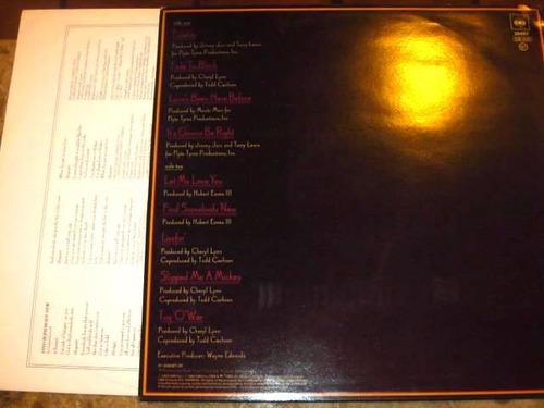lp imp cheryl lynn - its gonna be right (1985) c/ encarte