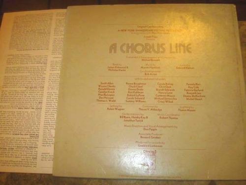 lp imp chorus line (1975) marvin hamlisch michael bennett