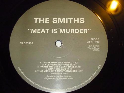 lp imp smiths - meat murder (85) morrisey novo 180g +encarte