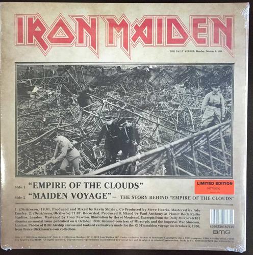lp iron maiden - empire of the clouds vinil - pronta entrega