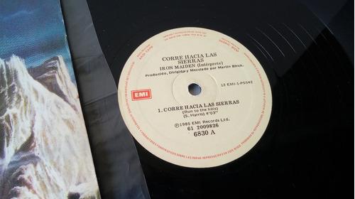 lp iron maiden - run to the hills live single argentina 1985
