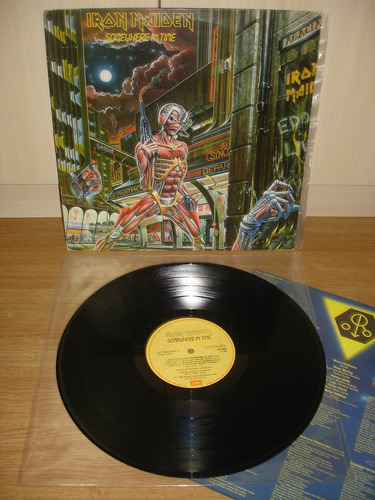 lp iron maiden - somewhere in time (excelente estado)