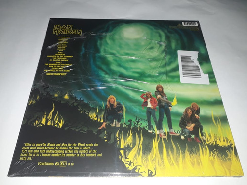 lp iron maiden the number of the beast vinil lacrado 180g