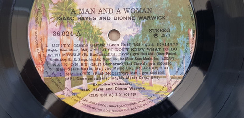 lp isaac hayes dionne warwick 1977 a man and a woman