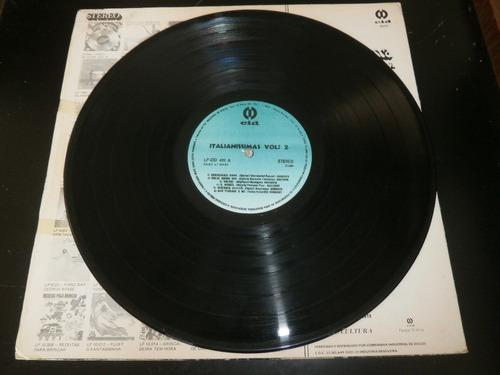 lp italianíssima vol.2, vários cantores, disco vinil, 1981