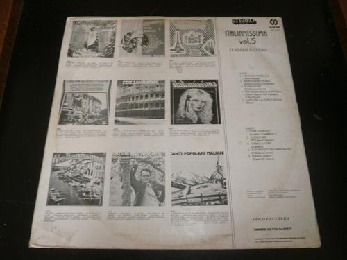 lp italianíssima vol.5, vários cantores, disco vinil, 1984