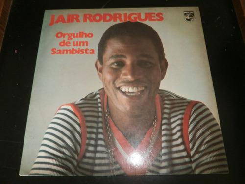 lp jair rodrigues, orgulho de um sambista, disco vinil, 1973